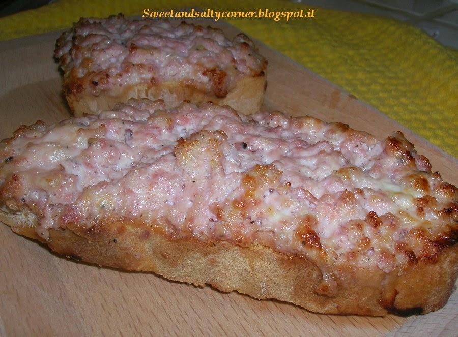 crostone salsiccia & stracchino