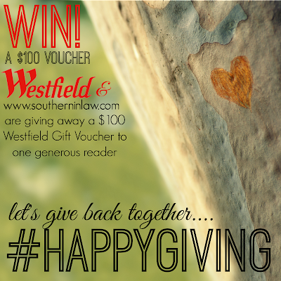 Win a Westfield Gift Card #happygiving