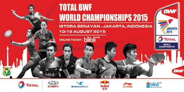 2015 TOTAL The Badminton World Federation (BWF) Championship.