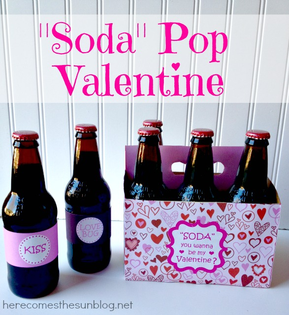 Soda Pop Valentine Here Comes The Sun