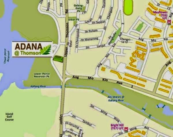 Adana @ Thomson Location Map