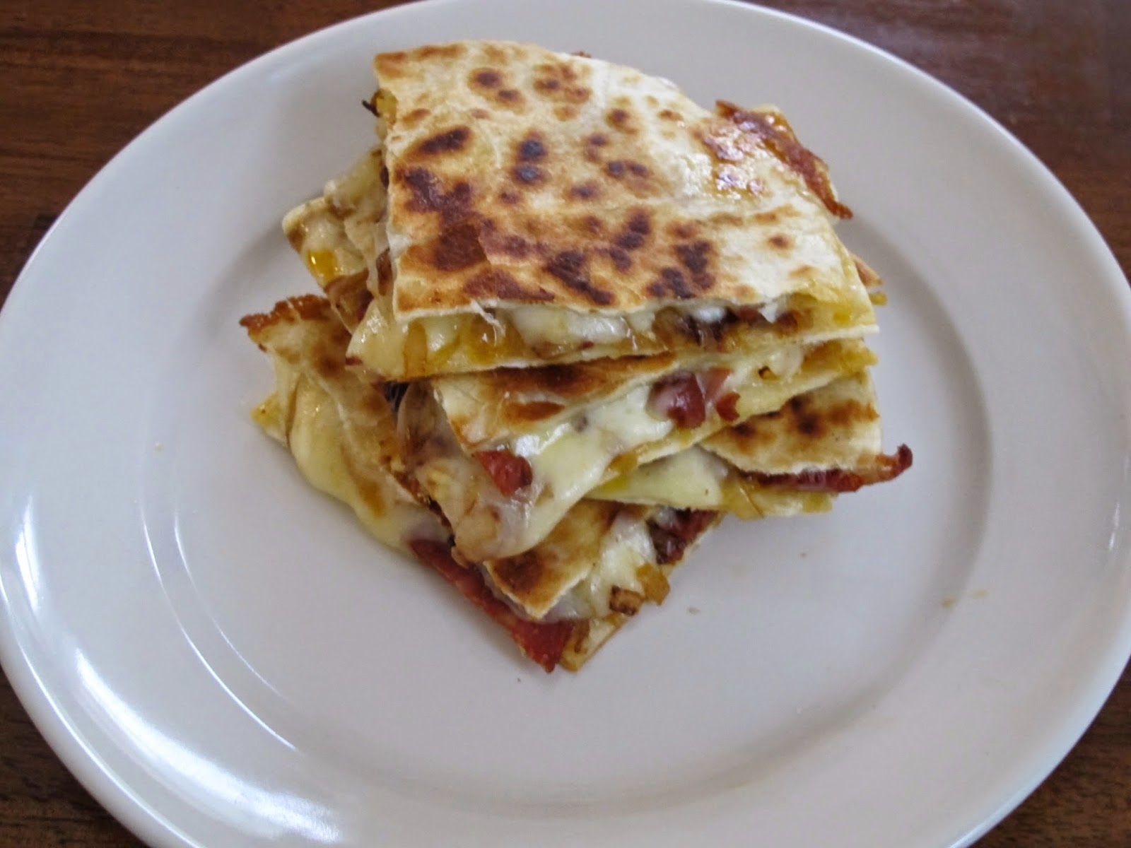Chorizo and Caramelized Onion Quesadillas