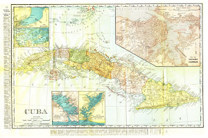 Mapa de Cuba colonial