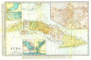 Mapa de Cuba colonial