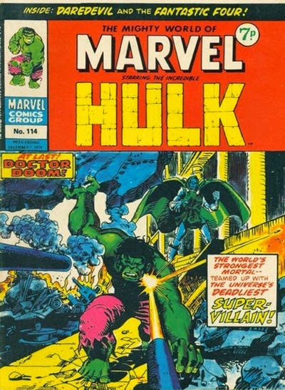 Mighty World of Marvel #114, The Hulk vs Dr Doom