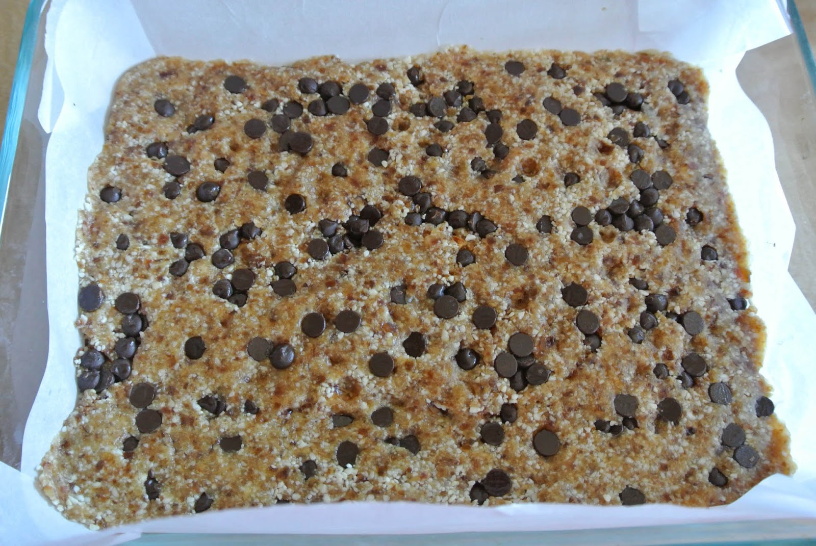 Place in the freezer for 1 hour and then cut into bars. Store in an ...