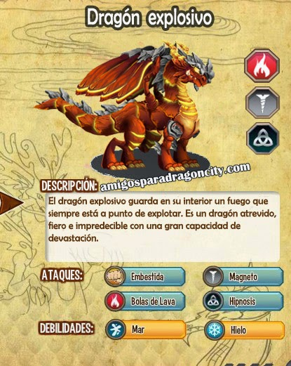 imagen de las caracteristicas del dragon explosivo