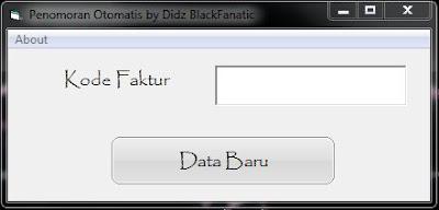 Membuat Nomor Otomatis di VB 6 Database MySQL