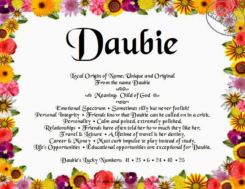 The meaning of the name -  Daubie
