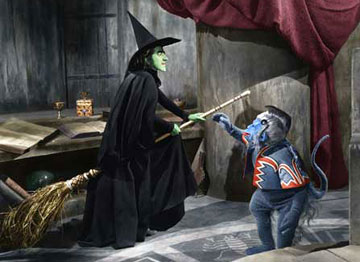 Wicked Witch Of The West Flying On Her Broom Fibro of Oz : Story of...
