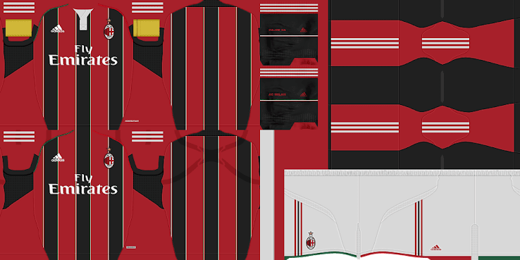 PES 2012 Milan 12 13 Home Kit by BeasT