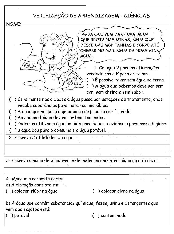 Muitas vezes Blog Professor Zezinho : Provas - Ciências 2° e 3° anos - Higiene EF09