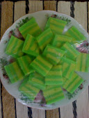 Pandan Custard layer Cake