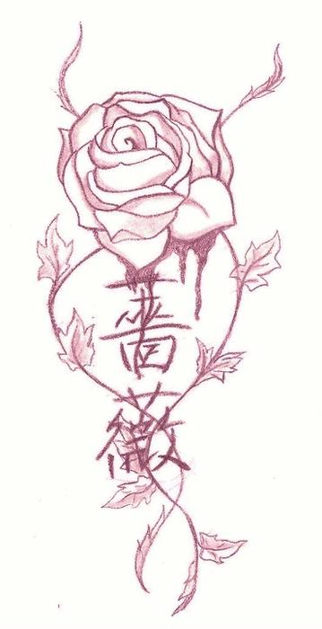 rose tattoos drawing