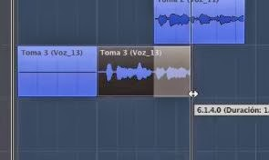 edicion no destructiva en cubase