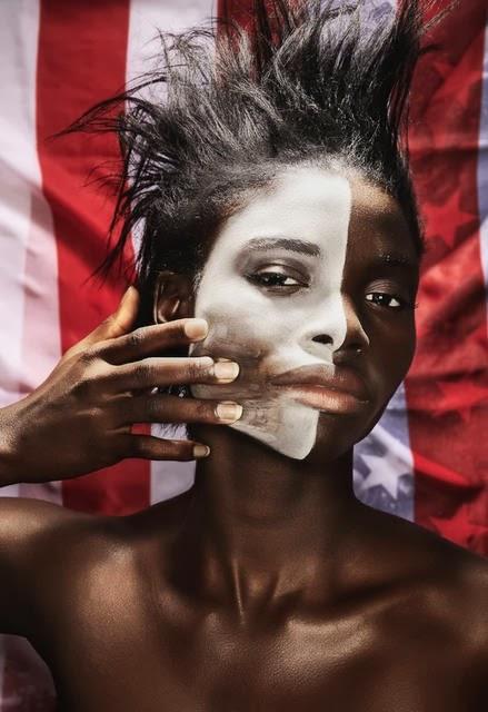 Half-white American girl.