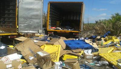 Dois caminhões dos Correios são assaltados em estrada do MA