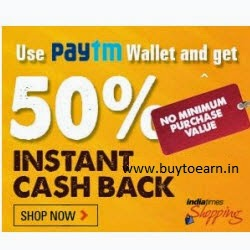 Indiatimes Shopping Free Rs. 20 PayTM wallet Balance on every purchase (No Minimum purchase)