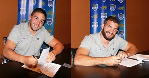 Ramiro Moyano y Lucas Noguera Paz firmaron con la UAR