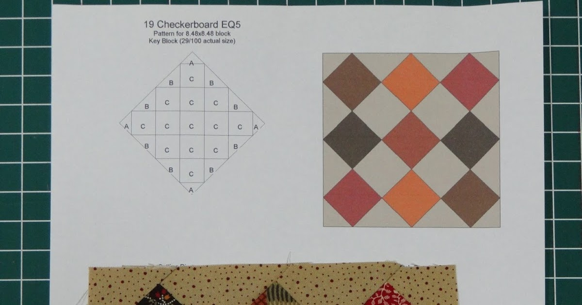 Cook Quilt Crochet: The FWSQ: Checkerboard Block