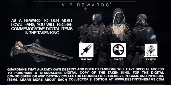 new Destiny Taken King information
