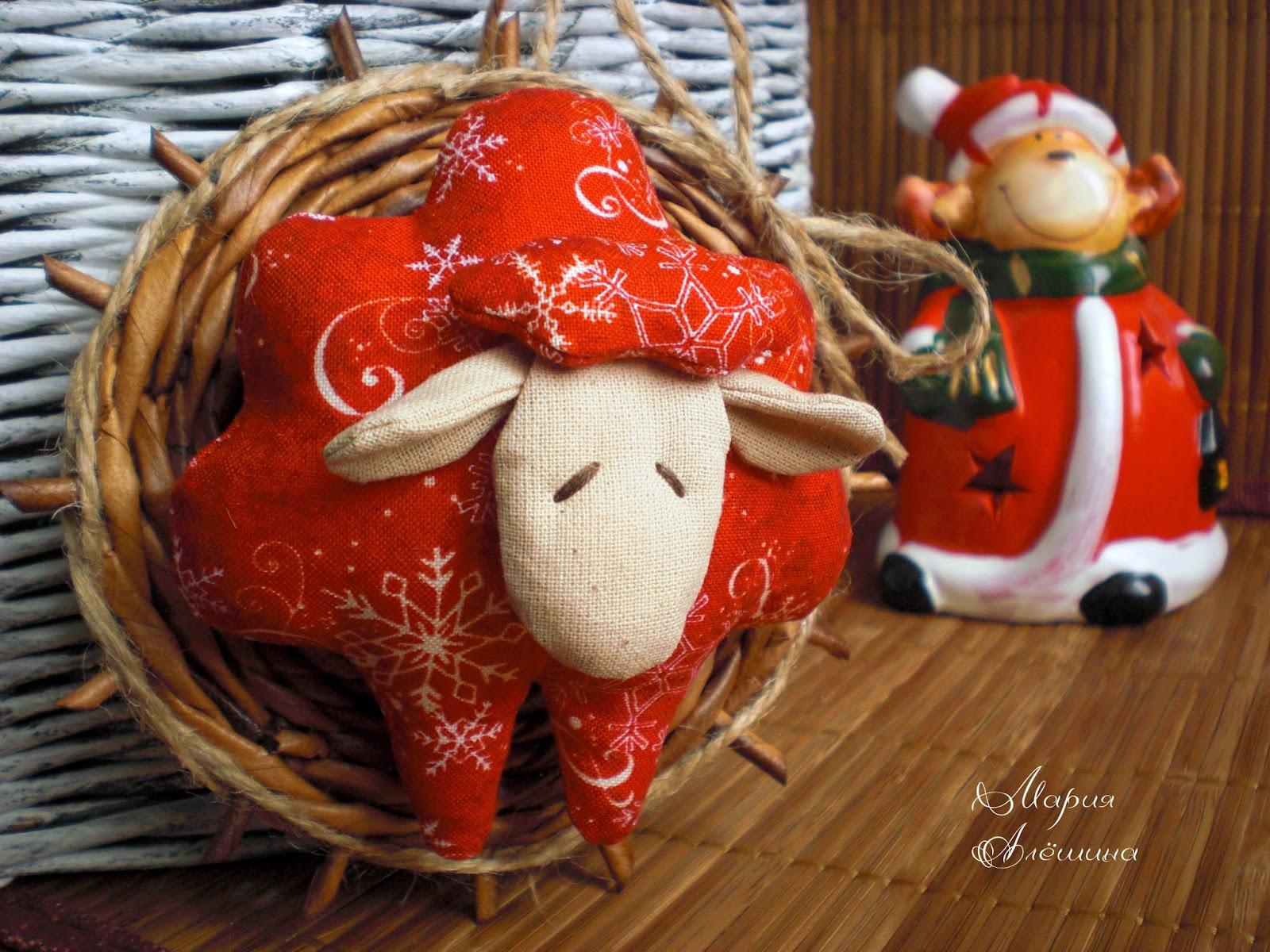 овечка, новогодняя игрушка,новогодний подарок