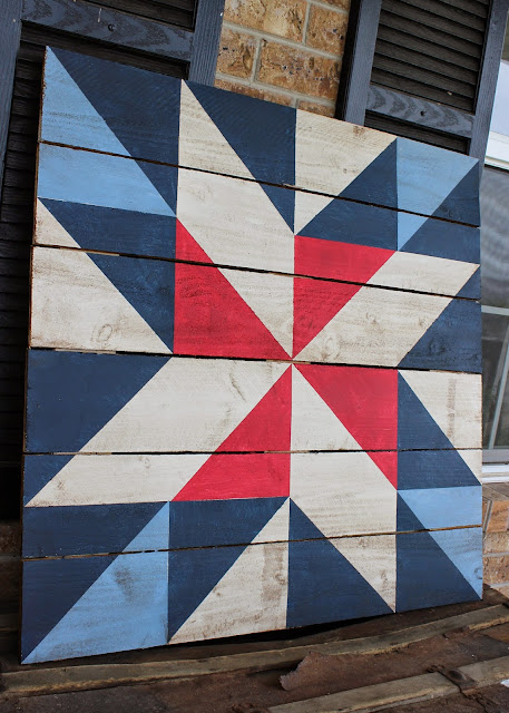 Quilt Painted On Wood
