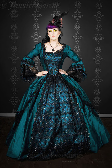 victorian wedding dresses green
