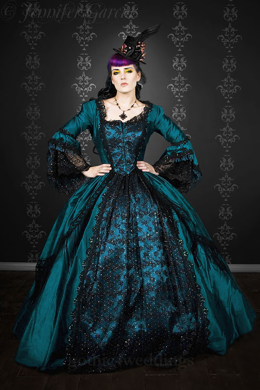 Gothic Steampunk Marie Antoinette Wedding Gowns