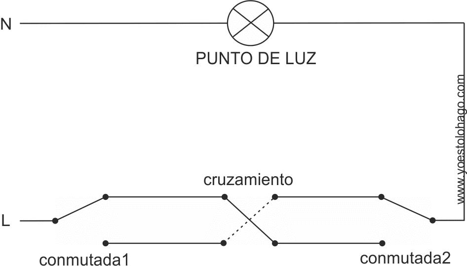 Esquema de circuito con cruzamieto