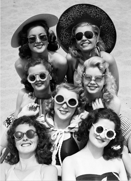 1940's gals with their sunglasses
