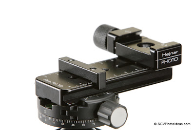 Mini MR Pano Nodal rail + Index bar on Sunwayfoto DDH-03