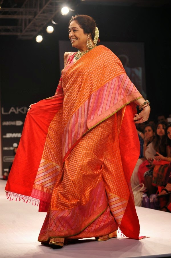 Kirron Kher during Lakme Fashion Week (LFW) Summer/ Resort 2014