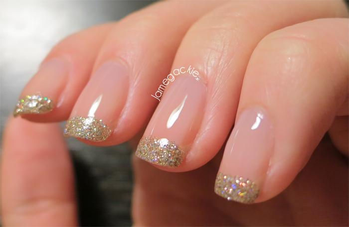 glitter French tips | nails | Pinterest