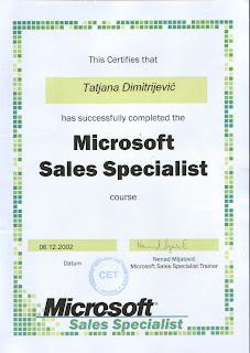 Microsoft Sales Specialist, Microsoft, Tatjana Dimitrijevic