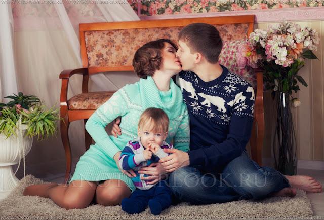 нежная семейная фотосессия
