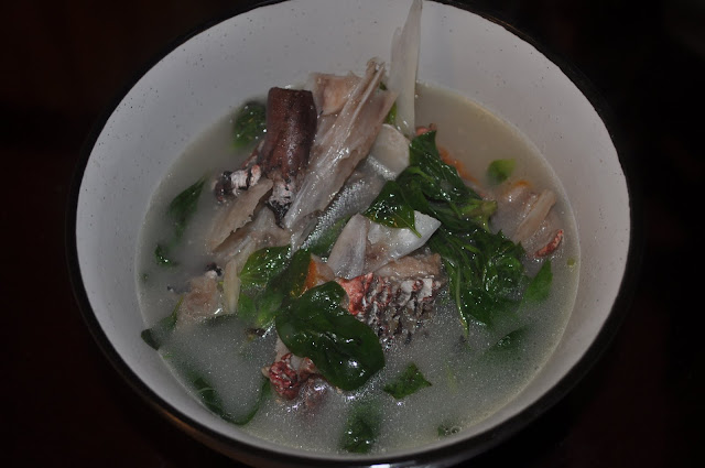 Jess kitchen lab clear fish head soup with sweet basil for Fish head soup recipe