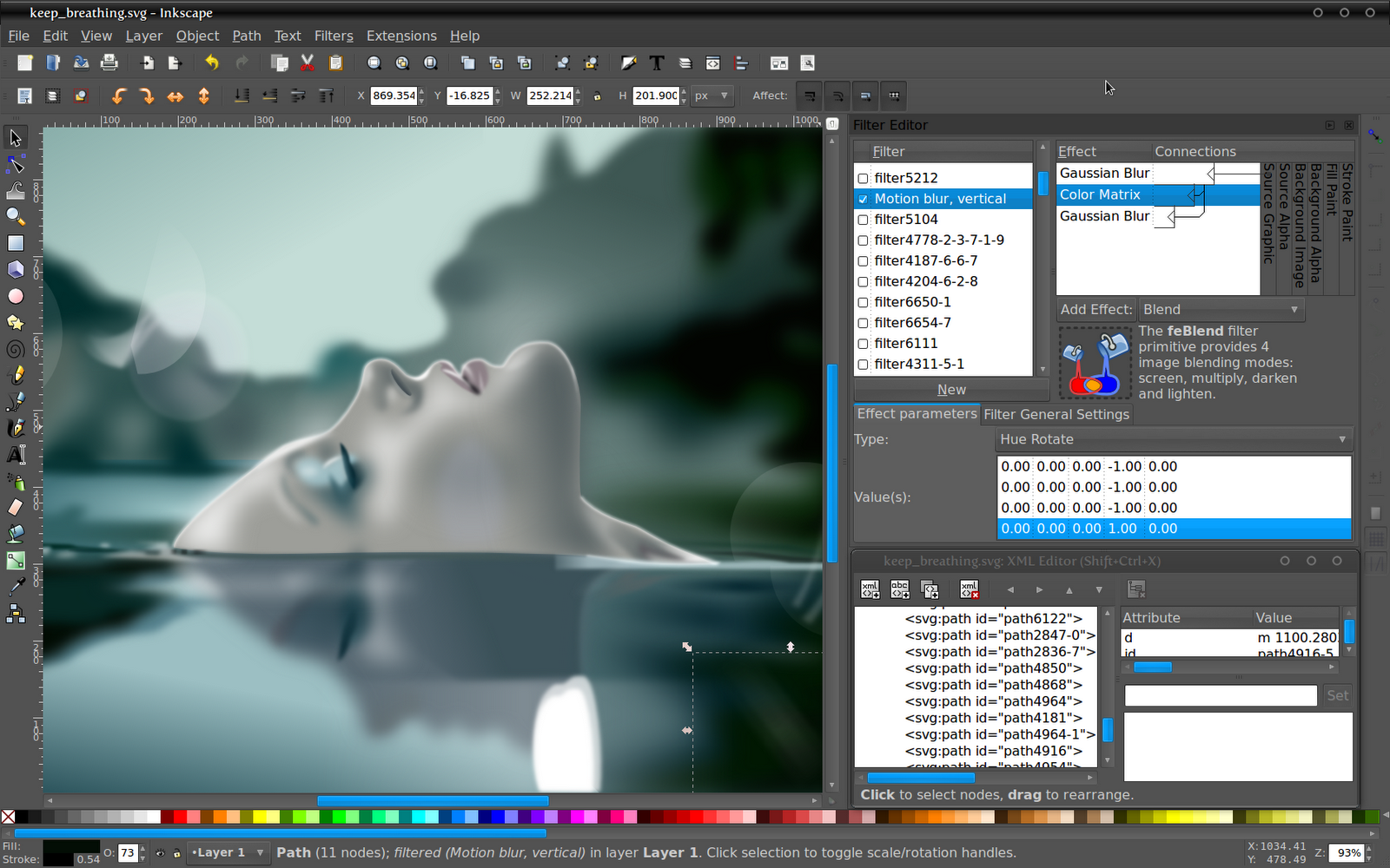 Inkscape vector graphics editor Art design software