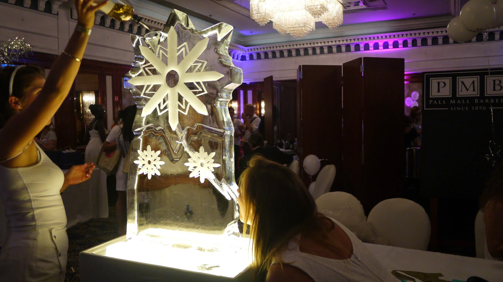 Vodka luge at the Yelp 10th birthday party