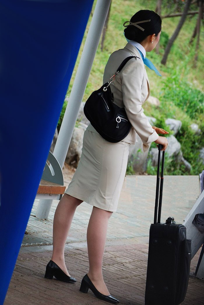nude Korean stewardess