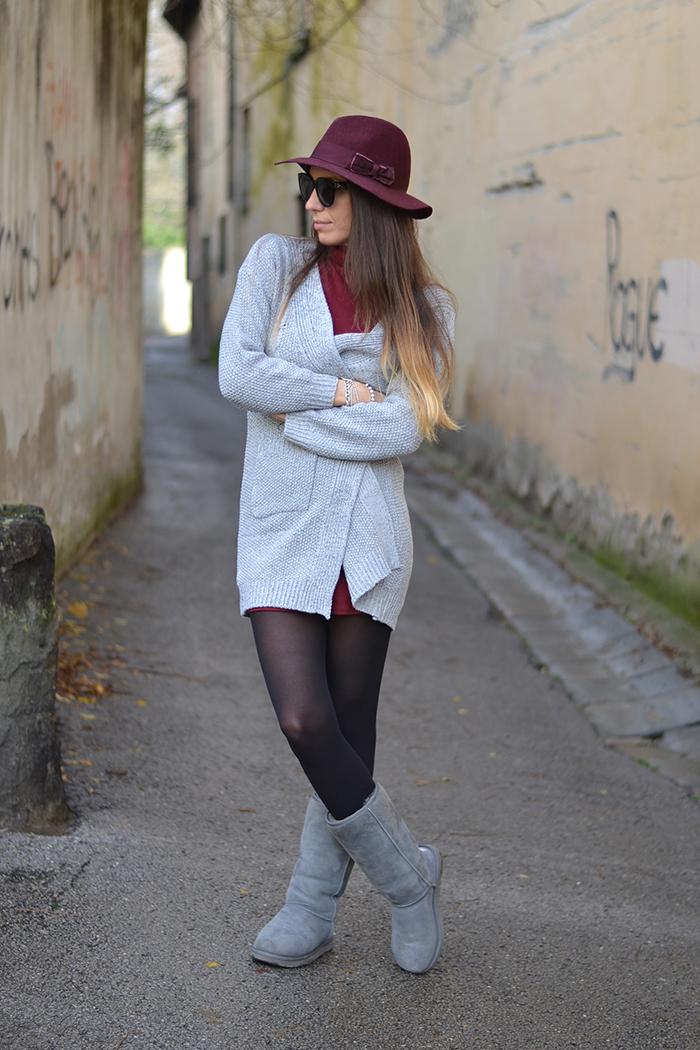 cardigan grigio outfit