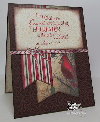 ODBD Earth Verses, Vintage Pattern Mini 1 Background, ODBD Christmas Paper Collection 2013, Card Designer Angie Crockett