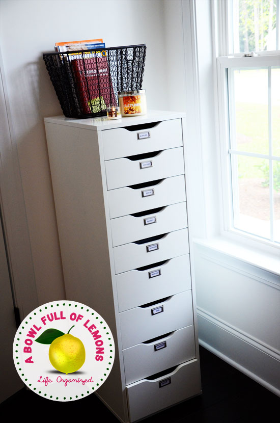 I Purchased This Drawer System At Ikea. Its The U201cAlexu201d Unit. I Use It To  Store All Of My Office Supplies.