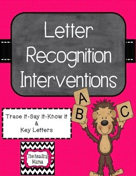 http://www.teacherspayteachers.com/Product/Letter-Recognition-Interventions-687348