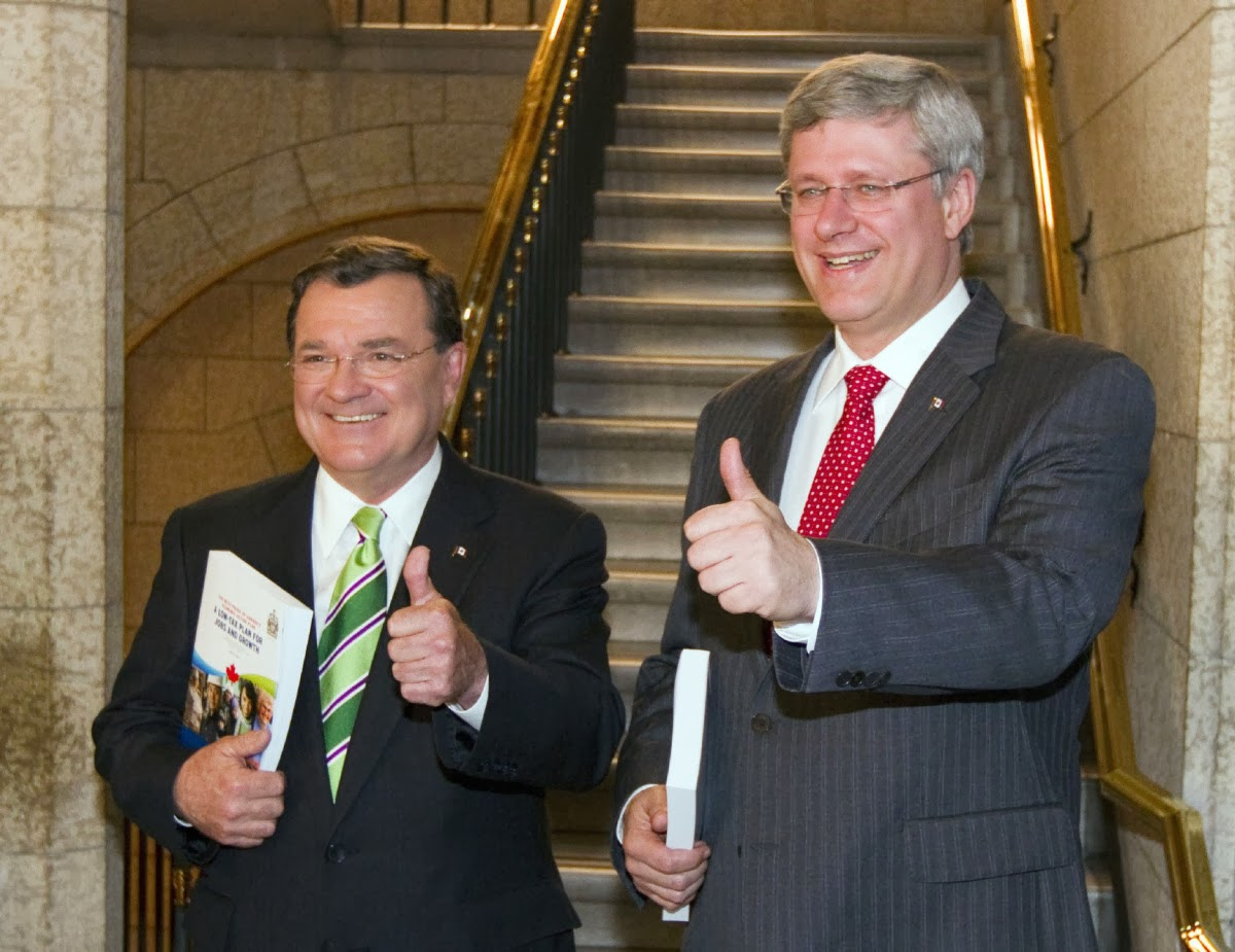 Stephen Harper & Jim Flaherty.