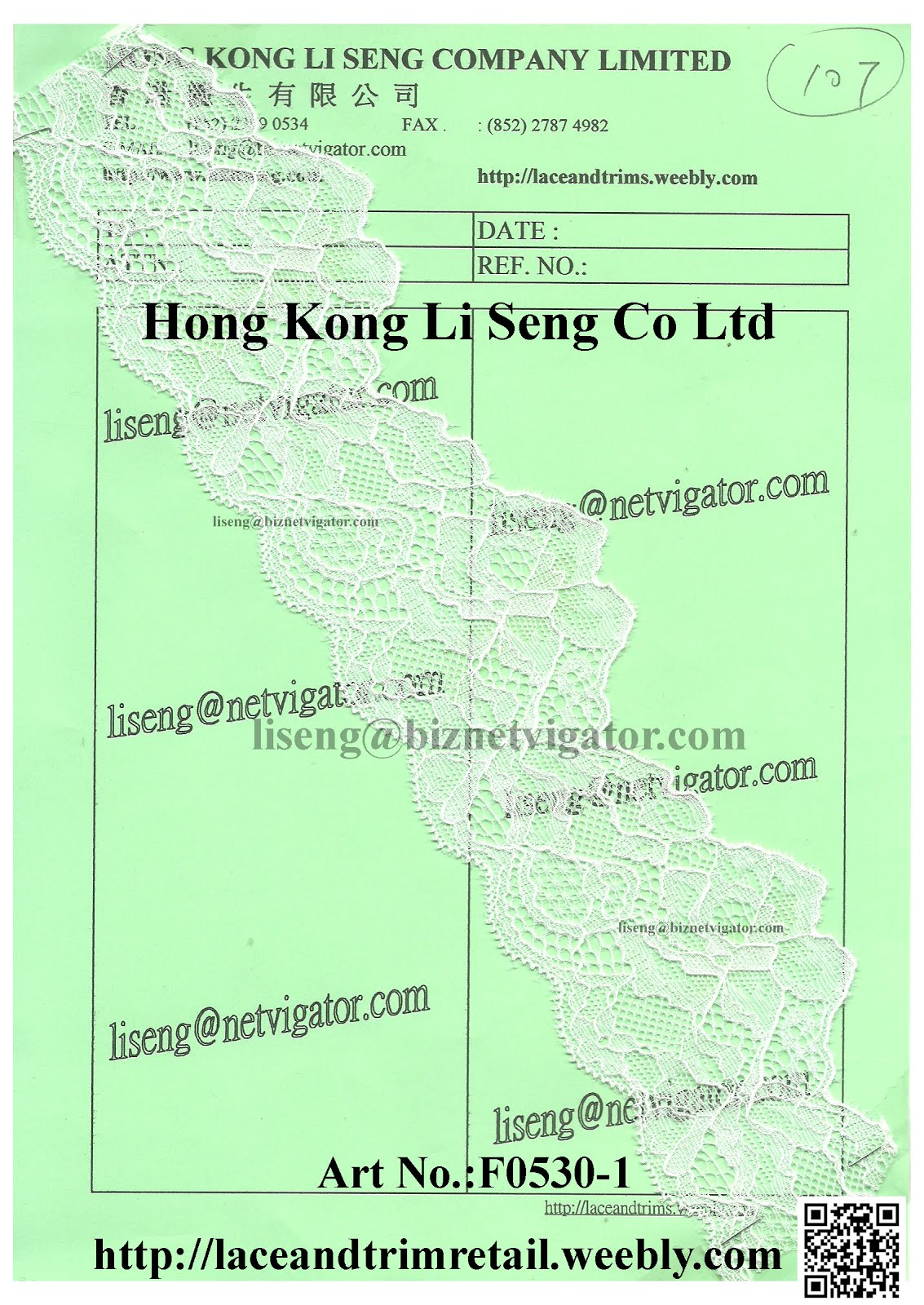 Lace Trims Wholesale Manufacturer and Supplier - Hong Kong Li Seng Co Ltd