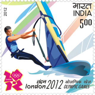 A commemorative postage stamp on LONDON 2012 OLYMPIC GAMES