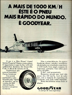 propaganda pneus Good Year - Blue Flame - 1971,  brazilian advertising cars in the 70s; os anos 70; história da década de 70; Brazil in the 70s; propaganda carros anos 70; Oswaldo Hernandez;.