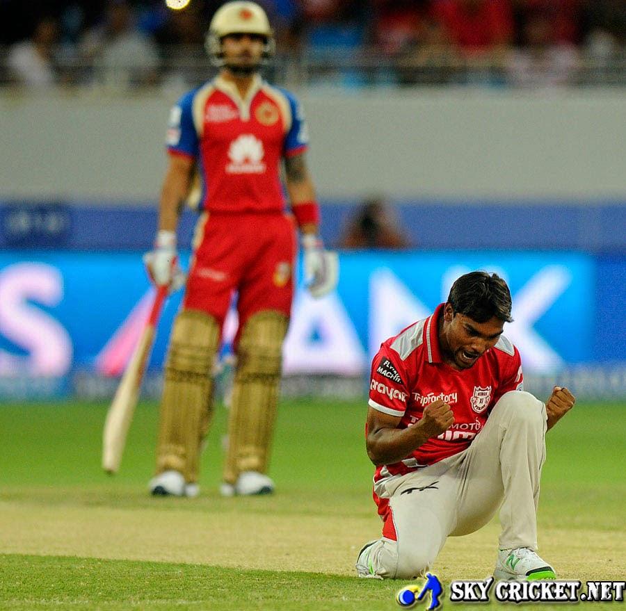 Sandeep Sharma took 3 wickets for 15 runs