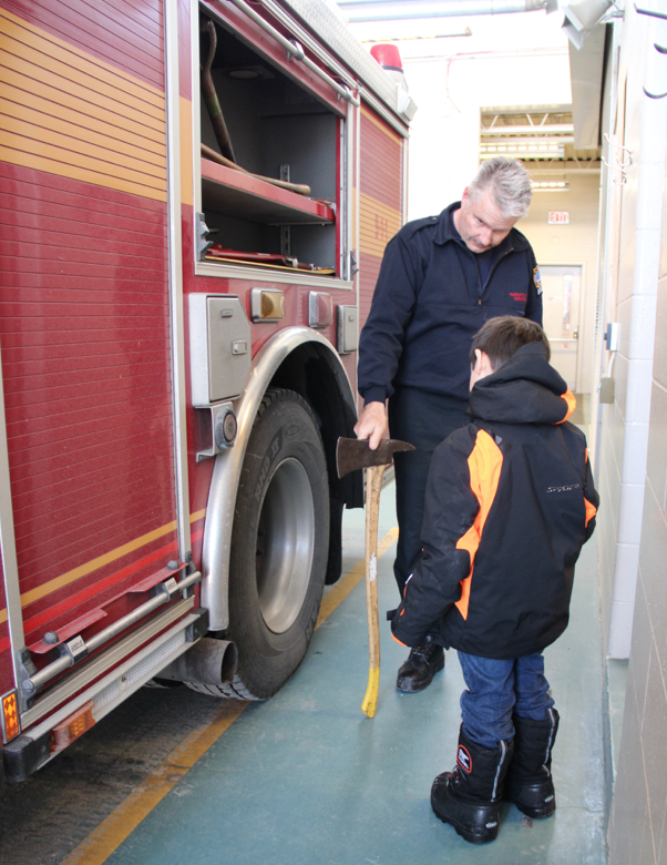 Community Helpers: A Visit With a Local Firefighter - axe